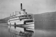 Archives + History / Old, Black and White and vintage photos of the SS Sicamous, Penticton and the Okanagan