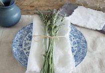 Mantelería / Tablecloth / Inspiración para la mesa al estilo de entrelinos
