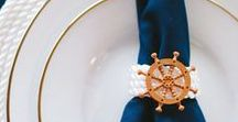 Ships and Anchors / Nautical and Navy inspired wedding themes and decor. Ropes, Anchors, Navy Blue and Gold. Bouys, Life savers, sea themed invitations and more - to make your wedding perfect,