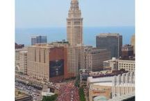 Cleveland Championship / Breathtaking aerial photography of the 2016 Cleveland Cavaliers NBA Championship Parade, taken by Aerial Photographer, Emily Roggenburk / emilyroggenburk.com/clevelandchampionship/