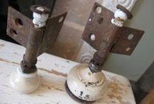 Hardware Repurposed / Knobs...Pullz...Wheelz...Hinges