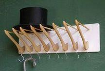 Laundry Room Repurposed / Coat Hangerz...Ironing Boardz...Clothes Pinz