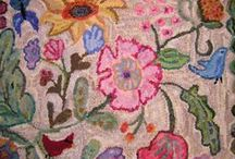 Rug Hooking / Because, wool + design + color = something artful, warm and comfortable in our homes.