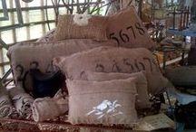 Burlap Pillows / Cushions