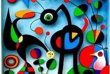 Art/Joan Miro / Artwork by Joan Miro / by Gloria Fraser