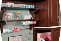 Craft Rooms / Craft Room Designs created with Wellborn Cabinetry. Designs from our dealers, designers, our design contests, designs from trade shows, designs that shown on Houzz and other online sources. Beautiful work!