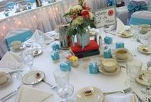 Centerpieces / Centerpieces from real weddings with AA Executive Catering at the Event Center or off-premise.    Also... inspirational centerpieces to spark your ideas!