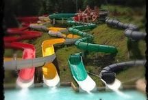 Tube Slides  / Sidewinder, Riptide, Twister and Midnight Run - Experience a surge of fun on the tube slides at Camelbeach! Twist and turn through darkness on Midnight Run. Then tackle the Twister, with its sharp turns and daring drops!