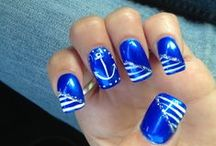 Nauti Nails  / Nautical themed nails for the sailors!