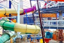 Aquatopia Indoor Waterpark / Camelback Lodge & Aquatopia Indoor Waterpark features an eight-story hotel is designed in a mountain-modern style architecture features a 125,000 square-foot highly-themed, indoor adventure water park!