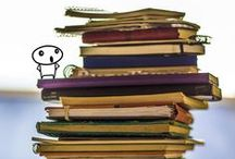 """The Notebook Monster / Creative people have something in common. We try capture ideas before they fade away. In consequence, we tend to have """"too many notebooks"""". We like to refer to that huge notebook pile as """"the notebook monster"""".  But, do we need the messy monster? What if a single adaptive notebook could do the same job and help us be more productive, organized and creative?"""