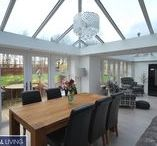 Case Study: Perry, Conservatory / Whilst the plan was to have an open plan kitchen/dining/living area it was also important that each area was somehow separate, so by adding 2 different roof shapes these defined the seating and dining area, the kitchen was made slightly bigger by pinching some space from the utility room.