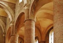 Romanesque Architecture / It's a collection of Romanesque, Byzantine and Carolingian architecture.