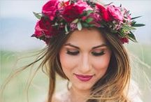 Inspiration - wedding hair flowers / floral crowns and pretty flowers for wedding day hair