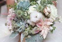Wedding flowers: Eryngium thistles / Not just for Scottish weddings!! Thistles are great for adding interest and texture to bouquets and arrangements.