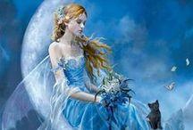 天使と妖精の世界 / angel、天使、羽。光。faerie。