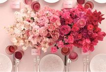 Wedding colours: Ombré wedding / For the love of ombré