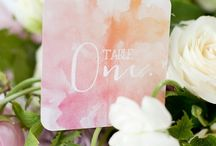 Watercolour stationery / Love the natural effect of watercolour, perfect for romantic wedding stationery
