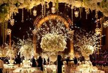 Vintage Wedding Flowers: 1920's Gatsby Glamour / Inspiration for a Great Gatsby themed wedding, flowers, styling and decor.