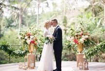 Wedding ceremony backdrop / Endless ideas on a beatiful ceremony settings