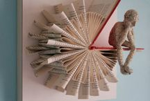 Bookart / Books that are changed creative or just Nice layouts.