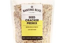 Seed Cracker / Serving suggestions for Banting Blvd's Seed Cracker premix.    Please note: this collection of recipes is intended for inspiration. Some recipes do not use LCHF appropriate crakers or ingredients. Please substitute where necessary.