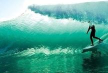 Swimming and surfing