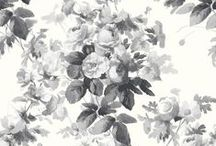 LONDON ROSE / There is a new rose in town. A painterly rose in hues of smokey greys and china blue L O N D O N R O S E is the chic floral choice for city and country interiors alike. Find it here: http://www.houseofhackney.com/collections/london-rose.html