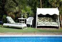 OUTDOOR LIVING / Bring the inside out with our collection of luxury indoor and outdoor furniture and garden accessories. The collection of garden, roof-top and conservatory pieces, from the 'Rocker' swing seat to sun loungers and luxury deck chairs is traditionally Made in England in the brand's signature prints. http://www.houseofhackney.com/home/outdoor-living.html