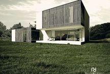 conceptHOUSE << E >> / Kategoria: ARCHITEKTURA MIESZKANIOWA, DOM JEDNORODZINNY. Rok:2009. Lokalizacja:Okolice Zalesia. Pu:ok. 195 m2