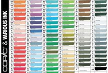 Copic Color Combos / Various Copic Color Combos