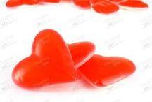Chuches color San Valentín / Chuches color rojo y blanco especial para decorar en san valentin