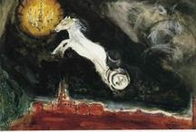 Marc Chagall / (1887 – 1985) Russian-French artist. An early modernist, he was associated with several major artistic styles and created works in virtually every artistic medium, including painting, book illustrations, stained glass, stage sets, ceramic, tapestries and fine art prints.
