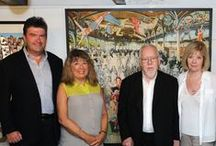 Sir Peter Blake: Signed Prints / Images from the private view of an exhibition of highly-collectable, signed, limited edition prints by the 'Godfather of British Pop Art': Sir Peter Blake CBE, complemented by new collections of ceramics and assemblage art by Robert Cooper and Mirjana Smith