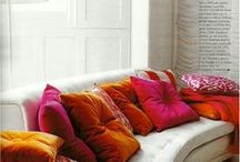 Decorating with Orange / Stunning Orange Rooms that inspire