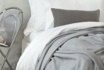 Sophisticated Grey Throw Blankets / Stunning cool rooms featuring grey throws & blankets