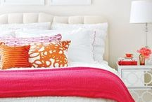 Pink Bed Throws / From pastel to hot pink, beautiful pink throws add the finishing touch to these bedrooms