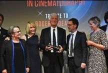 Cannes 2015 Pierre Angénieux Excellens in Cinematography (1) / Tribute to Roger Deakins with Directors Agnieszka Holland, Joel and Ethan Coen, Denis Villeneuve, Actors Frances McDormand, Irène Jacob and Jake Gyllenhaal. Photos Pauline Maillet