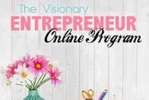 Visionary Entrepreneur Online Program / Want to learn how to start and grow your online business? You need a strategy and focus on things that do matter for your business. These step-by-step guides show you how you can launch your online business and grow it to the new level.  http://courses.financiallywiseonheels.com/