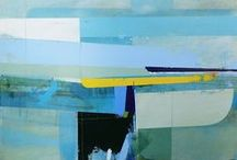 Andrew Bird / Andrew Bird artist painter art paintings contemporary semi abstract constructivist construction coastal landscape st ives cornwall for sale