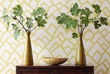Wallcoverings / Wallpaper is back, y'all! We love a great wall covering in the right space.