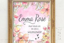 Girl's Only! Nursery & Girl's Room Murals, Wall Art & Decorating Ideas / I love painting murals and watercolors for girls! Hopefully you'll see an idea here that inspires you or just puts a smile on your face. Enjoy!