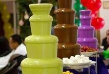 Chocolate Fountain Ideas | Sephra / Everyone loves chocolate anytime, anywhere. We love to share chocolate fountain ideas for your home fondue parties or chocolate fountain rental events! Having a home chocolate fountain is a must and Sephra offers home fondue fountains which are very high quality, QUIET, and easy to clean!