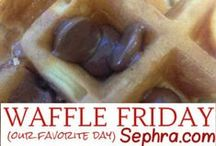 Waffles & Pancakes | Sephra / Add waffles as an offering to your chocolate fountain rental customers - or just make them for breakfast, lunch and dinner. Yes - you can do waffles and/or pancakes for dinner! We actually found Pizza Waffles! These are some of the most mouth watering pancakes and waffle recipes on Pinterest. Tip: Sephra has an amazing waffle mix - it's a must try!