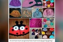 MICQ2016-caps- Mother India's Crochet Queens / We, Mother India's Crochet Queens are making Caps for various age groups from new born baby to XXL sizes and planning to donate needy people and cancer patients on 29th Jan 2017 at Mumbai.