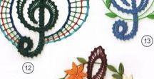 FLORE EN DENTELLE AU FUSEAU A TESTER / Arbres, fleurs, champignons, bouquet...