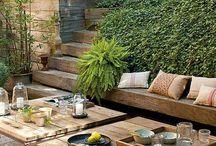 Jardin / Tableaux représentant toutes les bonnes idées que je ramasse pour la création et l'aménagement d'un jardin.