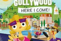 Gollywood, here I come! / Gollywood, here I come! is a success story through the eyes of a young turkey. This is a children's book that takes a journey from the small town of Gobbleville to the glamour of Gollywood, as Anamazie becomes a child star.