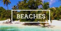 / BEACHES / I love beaches, turquoise waters, white sand and coconut palm tress. I love perfect postcard beaches that look like paradise. #beach