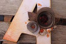 Letras personalizadas / Letras de cartón decoradas con scrap